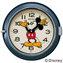 SEIKO(セイコー)「Mickey Wall Clock FS504L」 φ232mm / ネイビー[221FS504L]