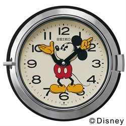 SEIKO(セイコー)「Mickey Wall Clock FS504S」 φ232mm / シルバー[221FS504S]