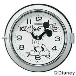 SEIKO(セイコー)「Mickey Wall Clock FS504W」 φ232mm / ホワイト[221FS504W]