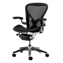 HermanMiller(ハーマンミラー)「Aeron Chair(アーロンチェア)」ポリッシュアルミベース/フル装備/Bサイズ/クラシック