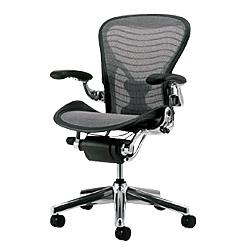 HermanMiller(ハーマンミラー)「Aeron Chair(アーロンチェア)」ポリッシュアルミベース/フル装備/Bサイズ/ウェイブ