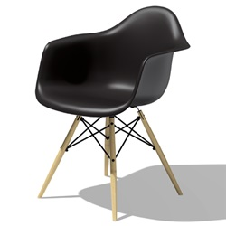 Herman Miller(ハーマンミラー) Eames Shell Chair / Armchair(DAW) ブラック【取寄せ品】[267DAWBKZ5ZA]