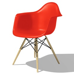 Herman Miller(ハーマンミラー)Eames Shell Chair / Armchair(DAW)レッド【取寄せ品】[267DAWBKZ5ZE]