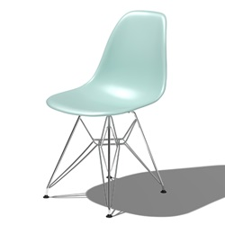 Herman Miller(ハーマンミラー)Eames Shell Chair / Side Chair(DSR)アクアスカイ【取寄品】