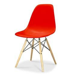 Herman Miller(ハーマンミラー)Eames Shell Chair / Side Chair(DSW)レッド【取寄品】