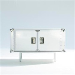 DIESEL LIVING(ディーゼル・リビング)with MOROSO「TOTAL FLIGHTCASE 120x45」CONCRETE WHITE【取寄品】[FURF35FUFUR/FU021]