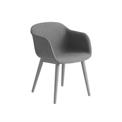 MUUTO(ムート)FIBER ARMCHAIR WOOD BASE  Remix 133/グレー