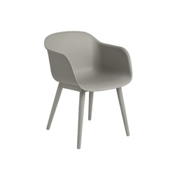 MUUTO(ムート)FIBER ARMCHAIR WOOD BASE グレー/グレー