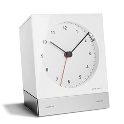 Jacob Jensen(ヤコブ・イェンセン)「Desk Alarm Clock(テーブルアラームクロック)」ホワイト[485JJN030015]