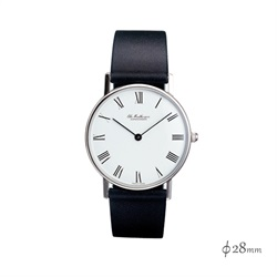 Ole Mathiesen(オーレ・マティーセン)Classic Quartz 28mm Steel Roman/White
