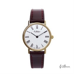 Ole Mathiesen(オーレ・マティーセン)Quartz 28mm Gold Plated Roman/White