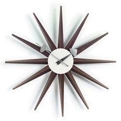 Vitra(ヴィトラ)「Sunburst Clock(サンバースト クロック)」ウォルナット[914VI20125303]