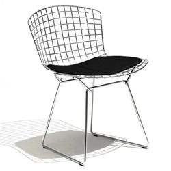 Knoll ( ノル )「 Bertoia Side Chair ( ベルトイア サイドチェア )1952年」クロームワイヤー/ブラック【取寄品】[935420CCK/K24217]