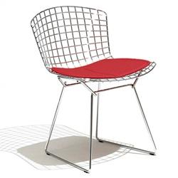 Knoll ( ノル )「 Bertoia Side Chair ( ベルトイア サイドチェア )1952年」クロームワイヤー/レッド【取寄品】[935420CCK/K24221]