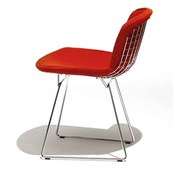 Knoll ( ノル )「 Bertoia Side Chair ( ベルトイア サイドチェア )1952年」フルカバー/レッド【取寄品】[935420CCU/K12077]