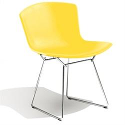Knoll ( ノル )「 Plastic Side Chair ( プラスチック サイドチェア )1956年」スチールワイヤークローム/イエロー【取寄品】[935PC420D-C-YE]