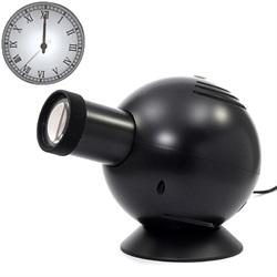 OVO「LED アナログ・プロジェクション・クロック」ローマン/ブラック[9961598CBK]