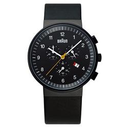 <ヤマギワ> BRAUN ( ブラウン )「 Chronograph ( クロノグラフ ) BNH0035 」ブラック[996BNH0035BKBKG] メンズ 腕時計 ウデドケイ画像