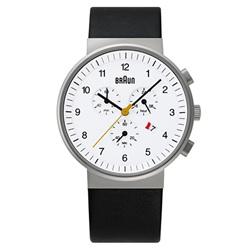 <ヤマギワ> BRAUN ( ブラウン )「 Chronograph ( クロノグラフ ) BNH0035 」ホワイト[996BNH0035WHBKG] メンズ 腕時計 ウデドケイ画像