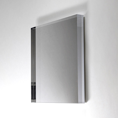 ウォールミラー エアーフレーム 枠なし 鏡 シンプル スクエア