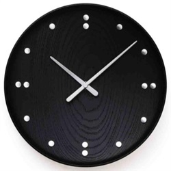 Finn Juhl(フィン・ユール)Wall Clock Black 345mm[996FJ782]