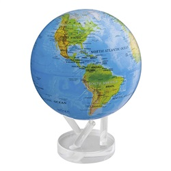 MOVA Globe(ムーバ・グローブ)「Blue with Relief Map」8.5インチ[996MG85RBE]【取寄品】