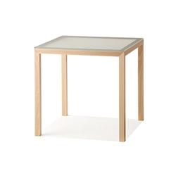 【クリックでお店のこの商品のページへ】nextmaruni(ネクストマルニ) ダイニングテーブル W70(フロストガラス) /黒川雅之【受注生産品】[996NM194331]