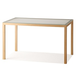 【クリックでお店のこの商品のページへ】nextmaruni(ネクストマルニ) ダイニングテーブル W120(フロストガラス) /黒川雅之【受注生産品】[996NM194332]