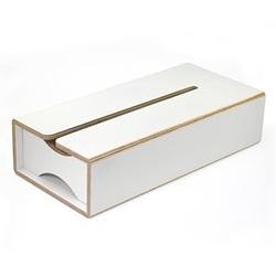 Eau「ティッシュボックス」ホワイト[996TNSCD5525]