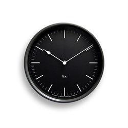 Lemnos(レムノス)「Riki Steel Clock」電波時計/ダークグレー[996WR0824BK]