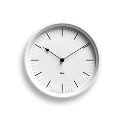 Lemnos(レムノス)「Riki Steel Clock」電波時計/ホワイト[996WR0824WH]