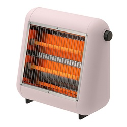 ±0(プラスマイナスゼロ)「Infrared Electric Heater(遠赤外線電気ストーブ)」ピンク[998XHSU010P]