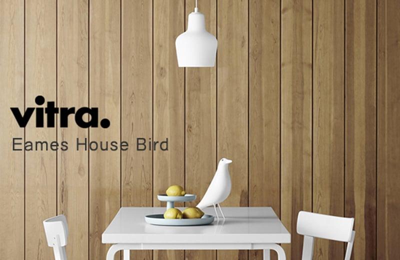 vitraヴィトラ北欧雑貨_イームズ夫妻お気に入りのオブジェ、Eames House Bird限定カラーのホワイト