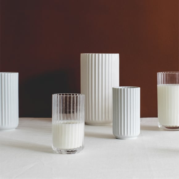 リュンビューポーセリン|Lyngby Vase(リュンビューベース) マットホワイト φ6×H12