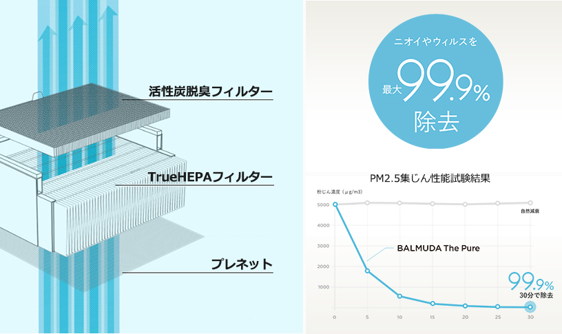 BALMUDA(バルミューダ) 空気清浄機 The Pure