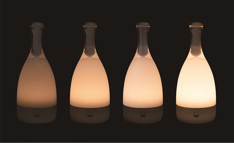 ambienTec コードレステーブルランプ Bottled (ボトルド)