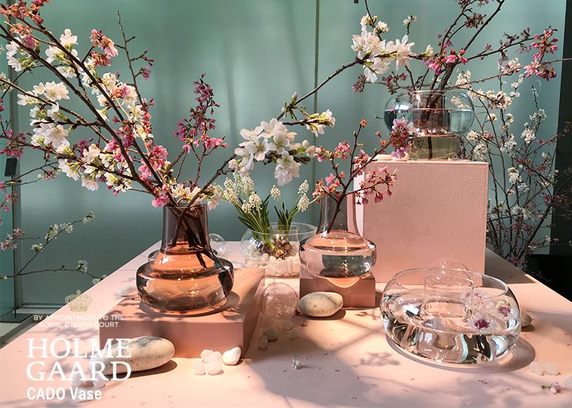 CADO Vaseは、ホルムガードで初めて起用した日本人デザイナー、柴田文江氏とコラボレーションしたフラワーベースです。