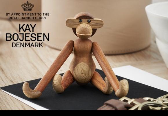 Kay Bojesen Denmark(カイ・ボイスン デンマーク)「Monkey(モンキー)」mini チーク/リンバ [99639249]