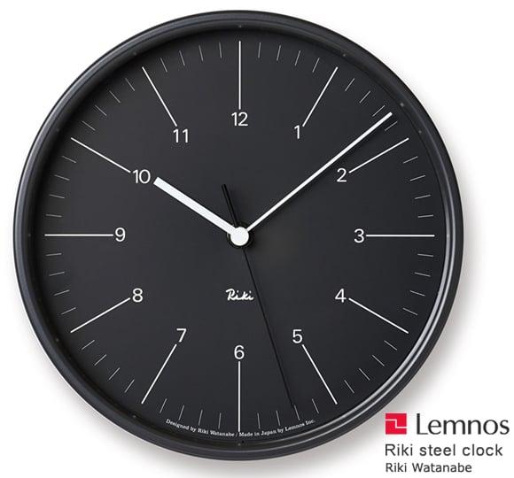 Lemnos(レムノス)_Riki Steel Clock